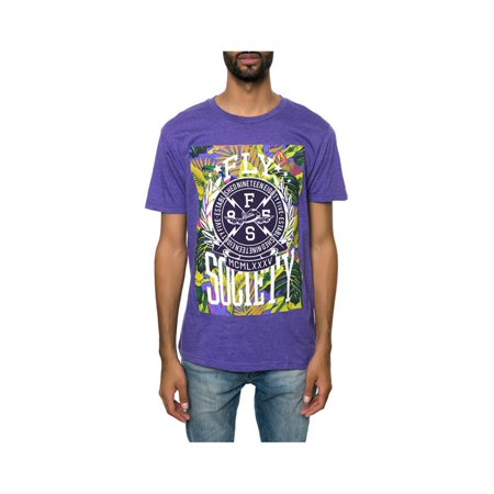 Fly Society Mens The Bolted Graphic T-Shirt purhea S - image 1 of 1