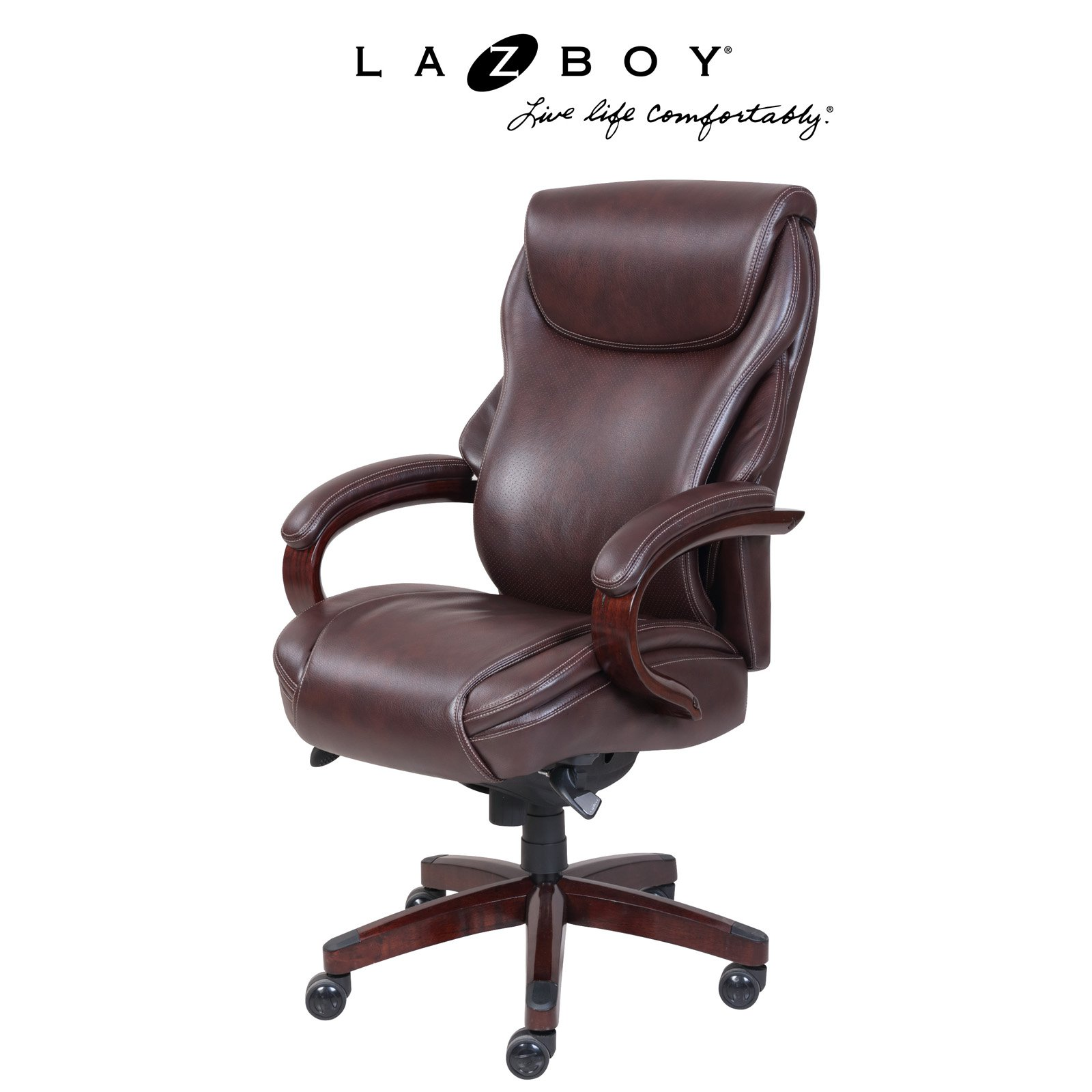 La Z Boy Hyland Executive Office Chair Coffee Walmartcom
