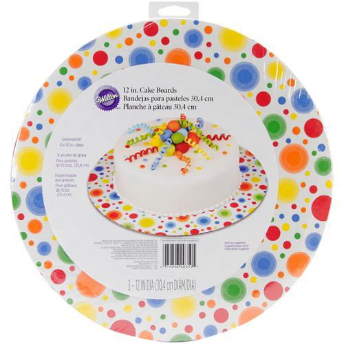 "Cake Boards-12"" Round Circles 3/Pkg"