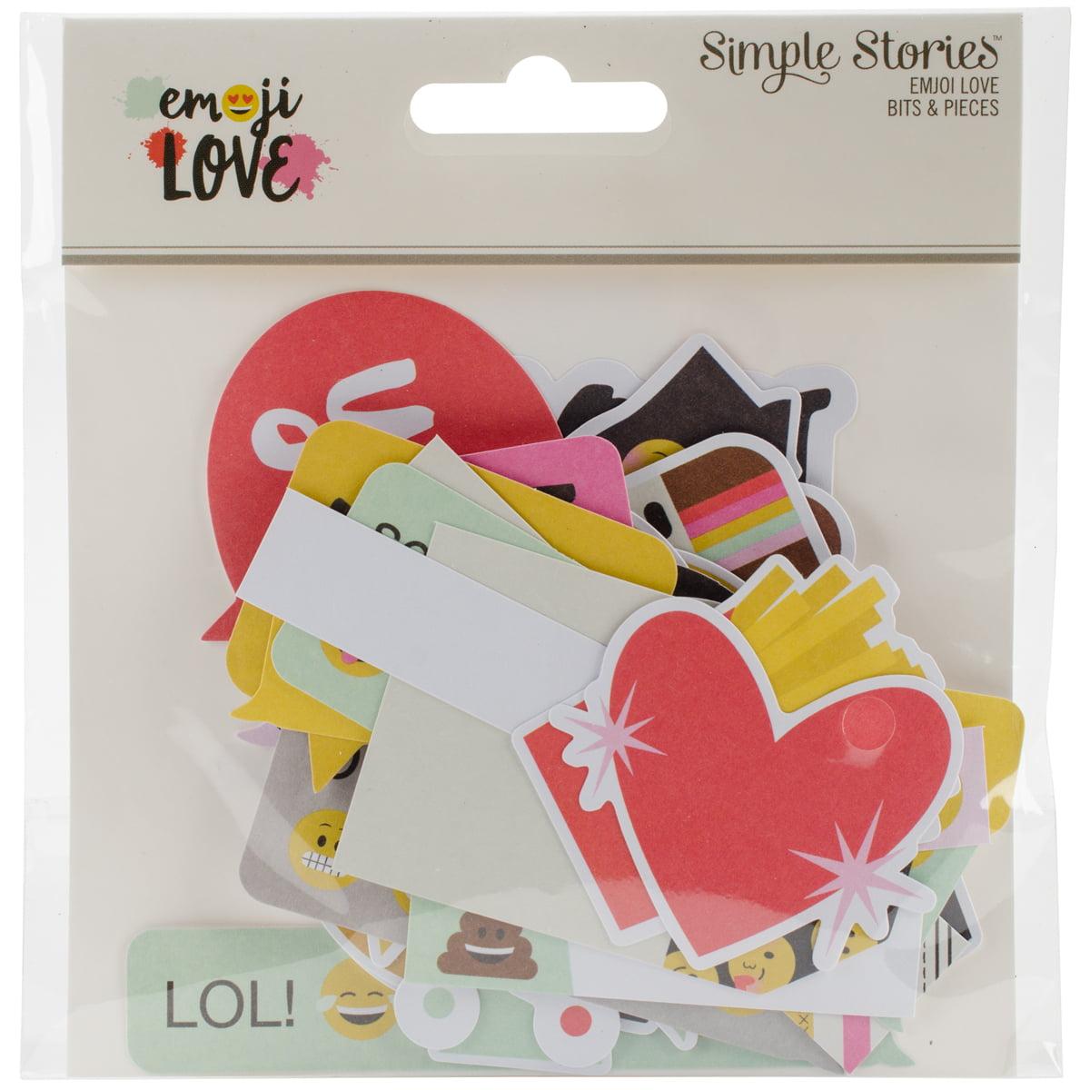 Emoji Love Bits & Pieces Die-Cuts, 47pk