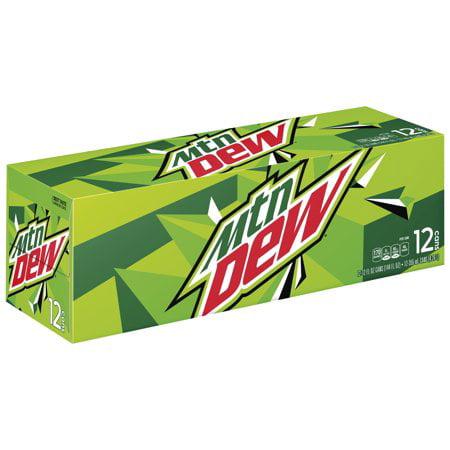 (3 Pack) Mountain Dew Original Soda, 12 Fl Oz, 12