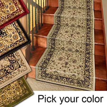 25' Stair Runner Rugs - Marash Luxury Collection Stair Carpet Runners (Ivory) for $<!---->