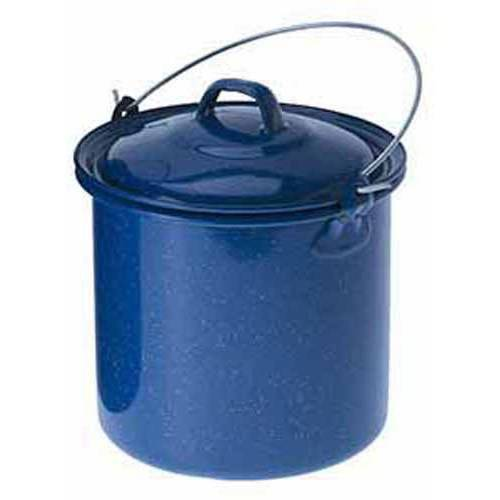 Enamelware Straight Pot with Lid, 3.5 qt, Blue by Enamelware