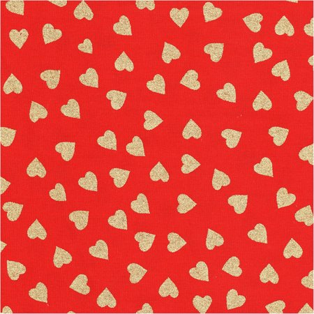 shason textile soft poly cotton print fabric for valentines day