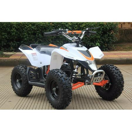 Sahara 24V 350W Electric Quad Battery-Powered MINI ATV, White