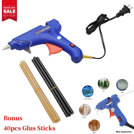 Heavy Duty Glue Gun (Hot Glue Gun Upgraded Version 20W Dual Power High Temp Heavy Duty Melt Glue Gun Kits with 40 Pcs Premium Glue Sticks for Arts & Crafts Use,Christmas)