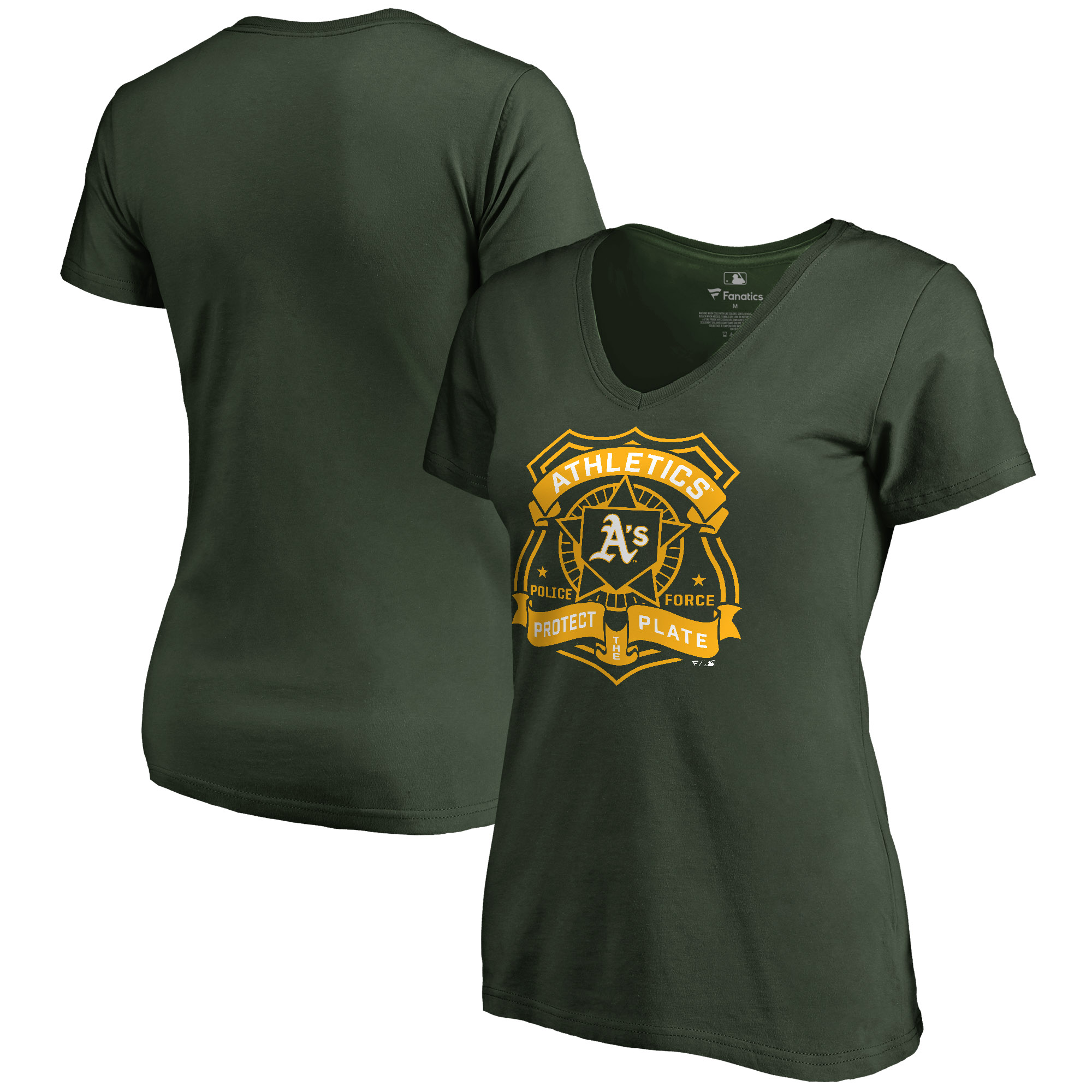 Oakland Athletics Women's Police Badge T-Shirt - Green