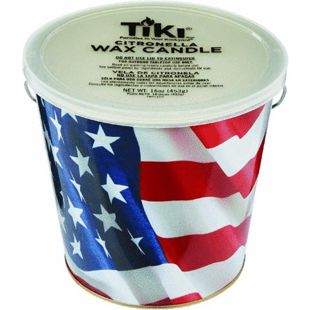 Citronella Bucket - Lamplight 1412122 Americana Flag Citronella Bucket-AMER CITRONELLA BUCKET