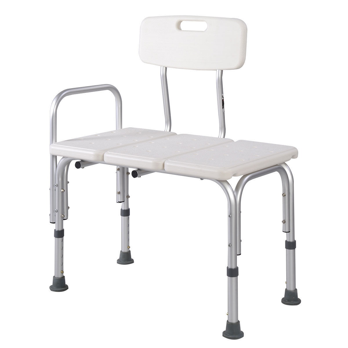 costway shower bath seat medical adjustable bathroom bath tub transfer bench stool chair