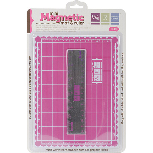 We R Memory Keepers Mini Magnetic Mat And Ruler