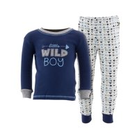 Duck Duck Goose Little Boys' Navy Wild Boy Cotton Pajamas