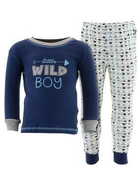 Duck Duck Goose Little Boys' Navy Wild Boy Cotton Pajamas