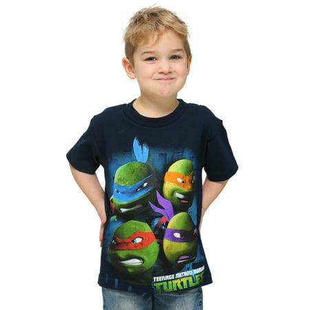Kids TMNT Four Faces T-Shirt](Tmnt Shell Shirt)