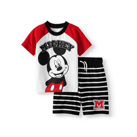 T-Shirt & Shorts, 2pc Outfit Set (Toddler - Mickey Mouse Outfit For Toddlers