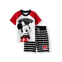 Mickey Mouse T-Shirt & Shorts, 2pc Outfit Set (Toddler Boys)