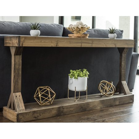 Solid Wood Vanity Console - Barb Large Console Table Solid Wood by Del Hutson Designs