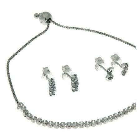 bfc8938dc PANDORA - Sparkling Elegance Gift Set, Bracelet & Two Earrings, Clear CZ  B800704-1 - Walmart.com