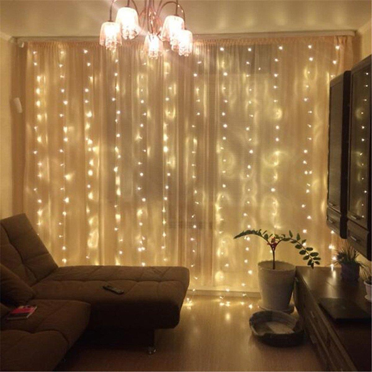 Ktaxon 5-Pack 300 LED Curtain Lights 9.8ft x 9.8ft - String Icicle & Ktaxon 5-Pack 300 LED Curtain Lights 9.8ft x 9.8ft - String Icicle ...