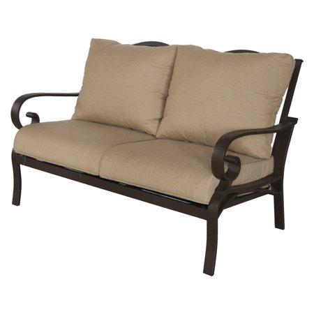 Fantastic Royal Garden Rivera Aluminum Outdoor Loveseat With Cushion Alphanode Cool Chair Designs And Ideas Alphanodeonline