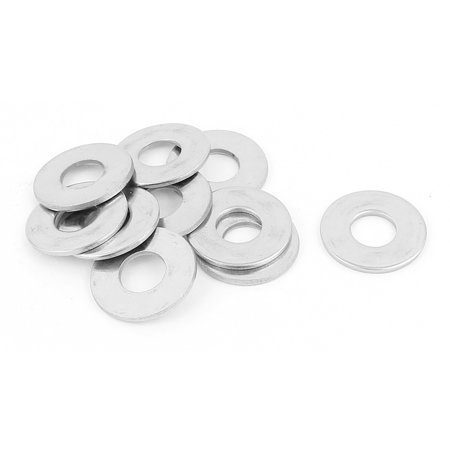 10mm Hole 2mm Thick 304 Stainless Steel Flat Washer Spacers 10pcs