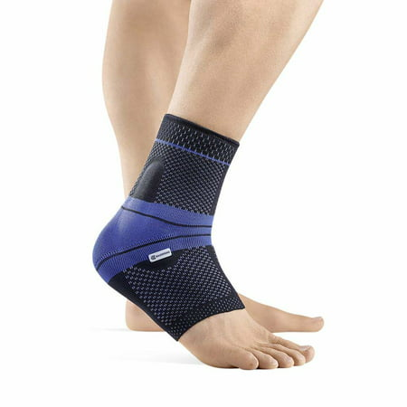 Bauerfeind - MalleoTrain - Ankle Support Brace - Helps Stabilize The Ankle Muscles and Joints for Injury Healing and Pain Relief- Black, Left Ankle, Size 5