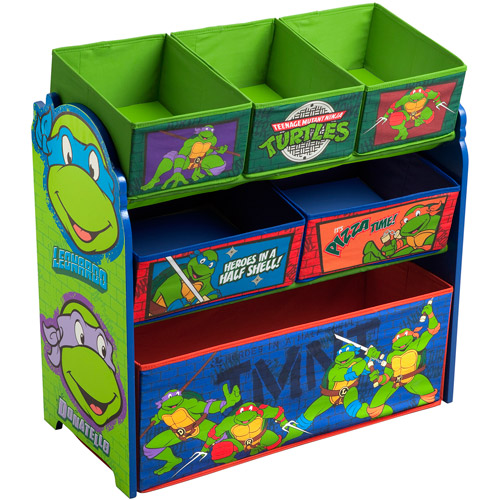 Delta Nickelodeon Teenage Mutant Ninja Turtles Multi-Bin Toy Organizer, Green