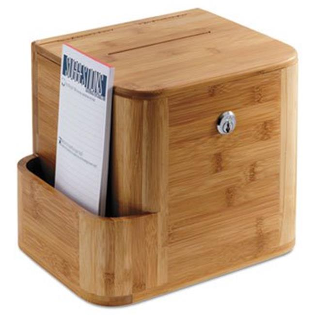 Bamboo Suggestion Box, 10 x 8 x 14, Natural by RoomFactory