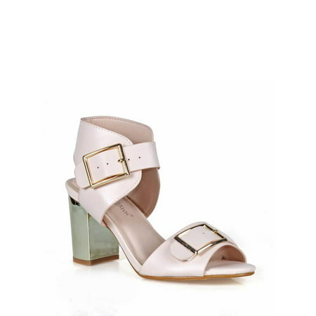 Nature Breeze Chunky Heel Women's Sandals in Pink for $<!---->