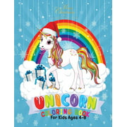 Merry Christmas Unicorn Coloring Book for Kids 4-8 : Holiday Coloring Pages for Kids of All Ages Childrens Unicorn Gifts for Girls Teens Stocking Stuffer Activity Workbook (Paperback)
