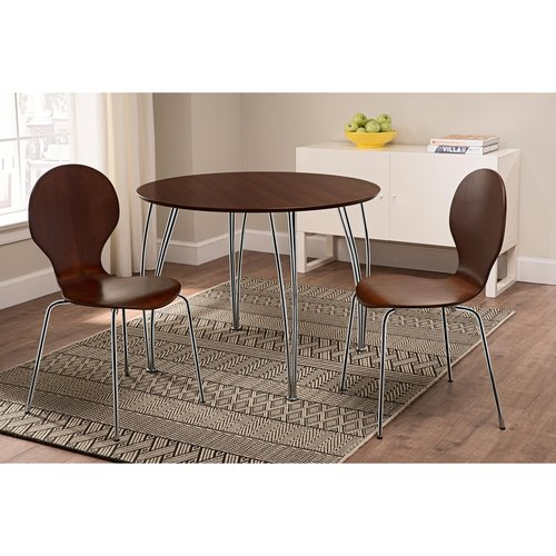 Shell Bentwood Dinette Chairs, Set of 2, Espresso