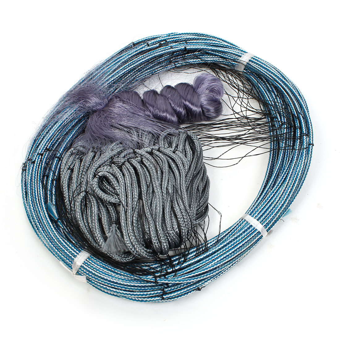 30m x 1.5m Single Layer 3.5cmx3.5cm Mesh Gray Blue Fish Gill Net