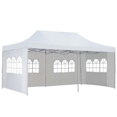 10x20 Ft Canopy Wedding Party Pop up Tent Heavy Duty Instant Gazebo with Removable Sidewalls White
