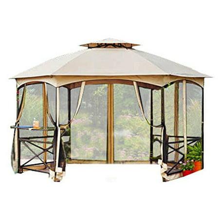 Garden Winds Crossman Hexagon Gazebo Replacement Canopy Top ()