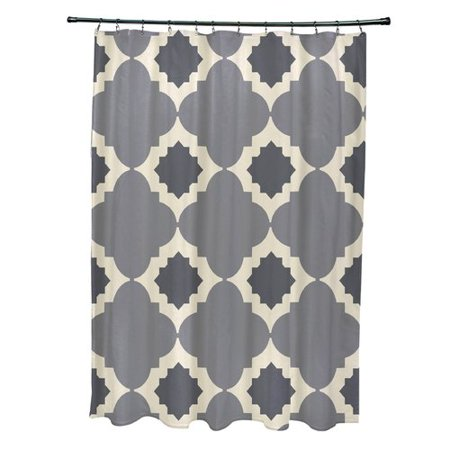 Bungalow Rose Nikhil Geometric Print Single Shower Curtain