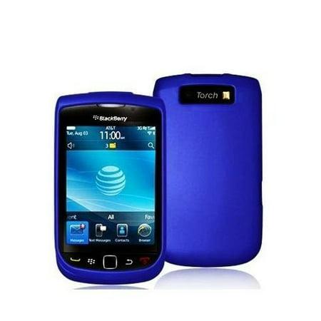 Rubberized Hard Case for Blackberry Torch 9800 - Blue