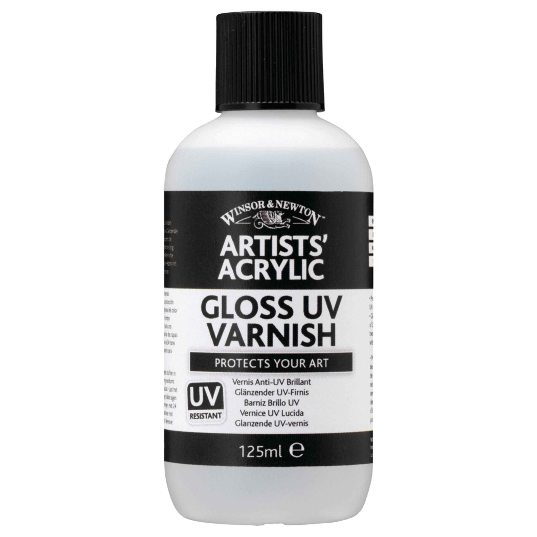 Winsor & Newton Artists' Acrylic UV Varnish, 125ml Bottle, Matte