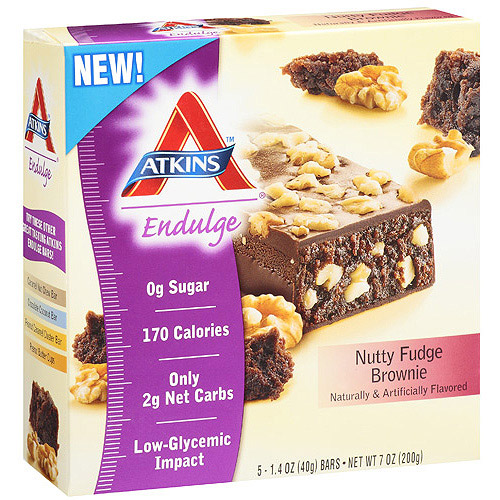 Atkins Endulge Nutty Fudge Brownie Bar, 5ct