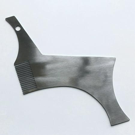 Barbe Shaper Pochoir en acier inoxydable Guide de mise en forme de barbe et outil de style pour un alignement parfait - image 4 of 7