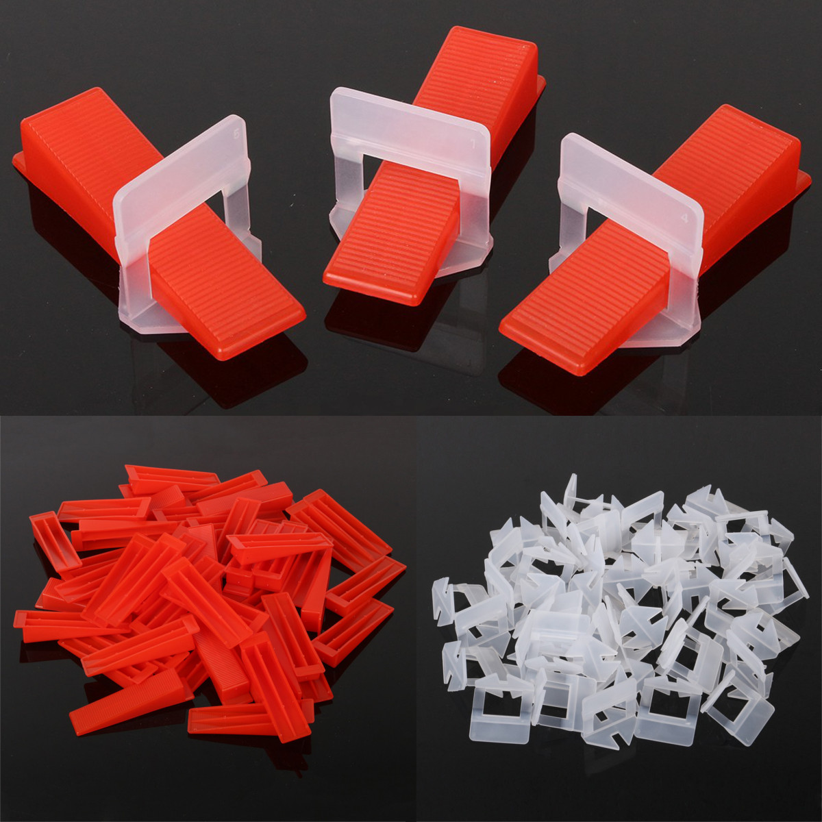 Tile wedge Leveling System 50 Clips or 50Wedges Plastic Spacers Tiling Tools