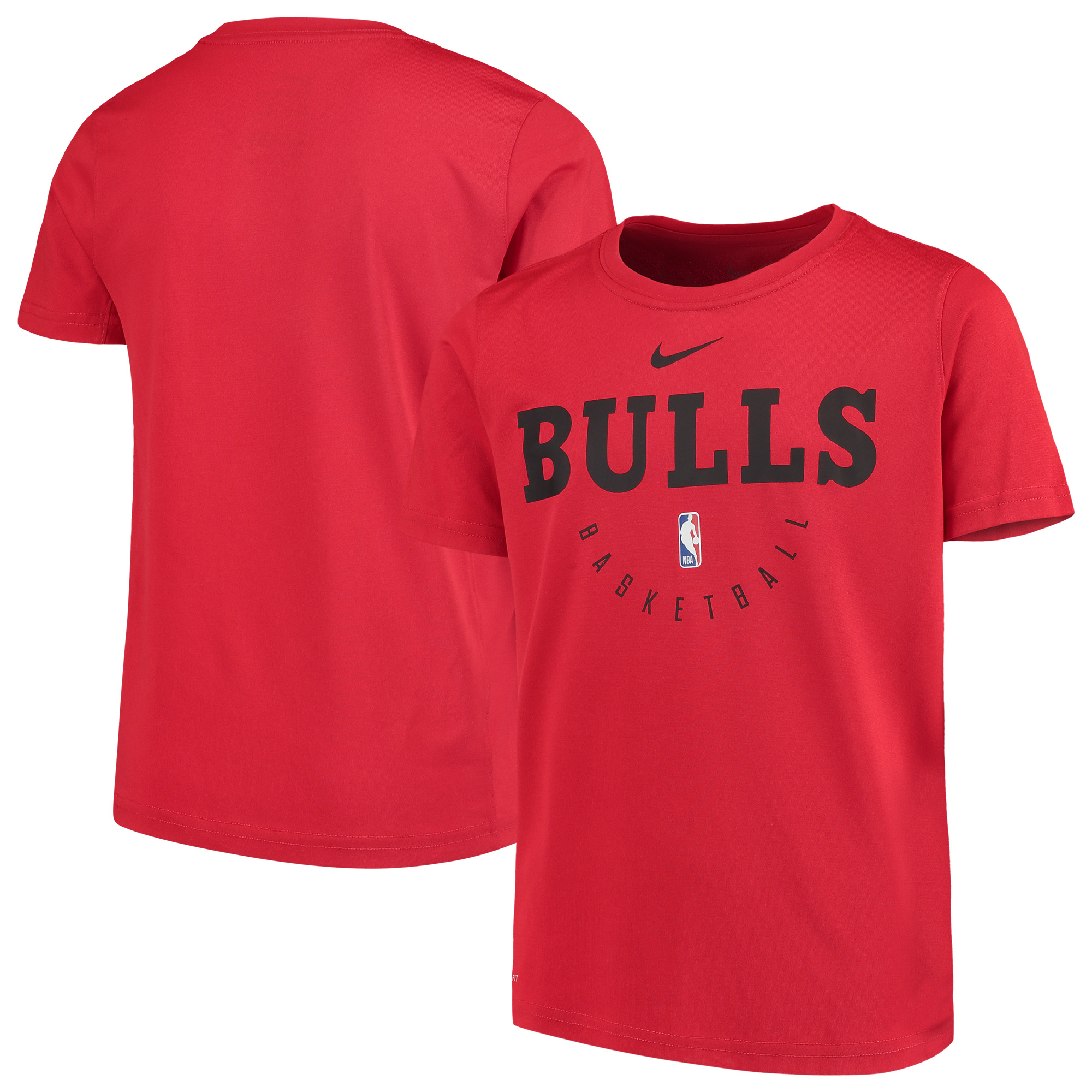 Chicago Bulls Nike Youth Practice Logo Legend Performance T-Shirt - Red