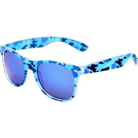 Piranha Retro Camo Blue Sunglasses