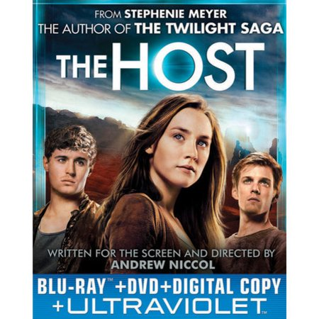 The Host (Blu-ray + DVD + Digital Copy + UltraViolet) From Stephenie Meyer, the creator of the worldwide phenomenon  The Twilight Saga , comes this daring and romantic thriller based on The New York Times #1 bestselling novel. When an unseen enemy threatens mankind by taking over humans' bodies and erasing their minds, Melanie Stryder (Saoirse Ronan) risks everything to protect the people she cares about most, proving that love can conquer all in a dangerous new world.  The Host  is a passionate and powerful epic love story co-starring Diane Kruger, Jake Abel, Frances Fisher, Max Irons and William Hurt. Deleted Scenes,  Bringing 'The Host' to Life , Feature Commentary wth Author/Producer Stephenie Meyer, Screenwriter/Director Andrew Niccol and Producer Nick Wechsler. Subtitles: English SDH (Subtitles for Deaf and Hearing Impaired).