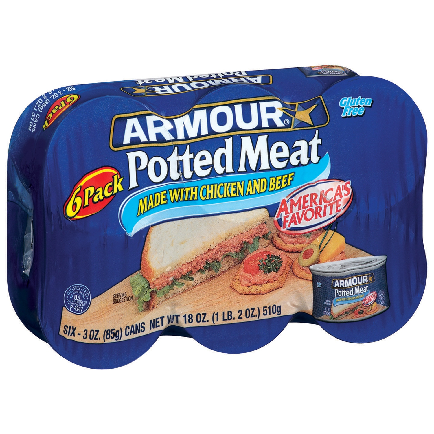 Armour Made W Chicken & Beef Potted Meat 18 Oz Package by Pinnacle Foods Group, Llc