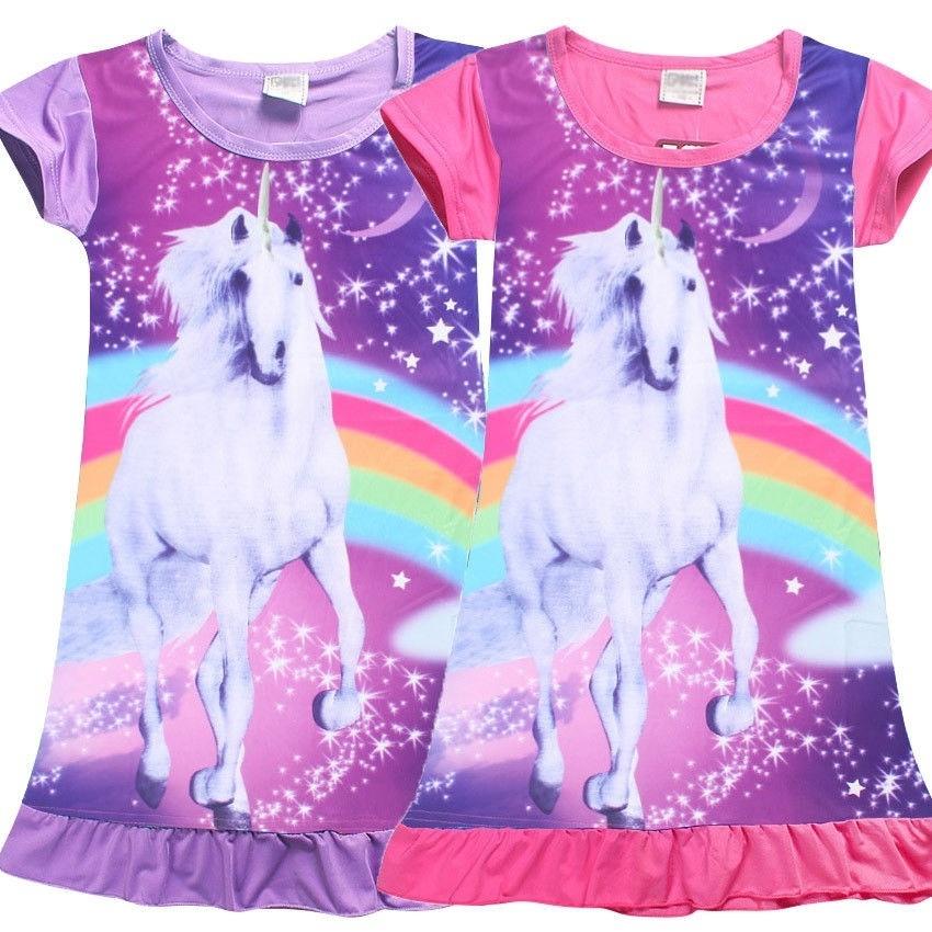 NEW My Little Pony Girls Nightie Nightdress 2 3 4 5 6 7 8 years Unicorn