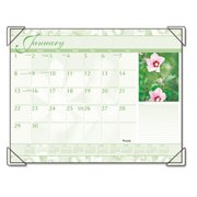 """AT-A-GLANCE Visual Organizer Recycled Antique Floral Desk Pad, 22"""" x 17"""" DMD13532-10"""