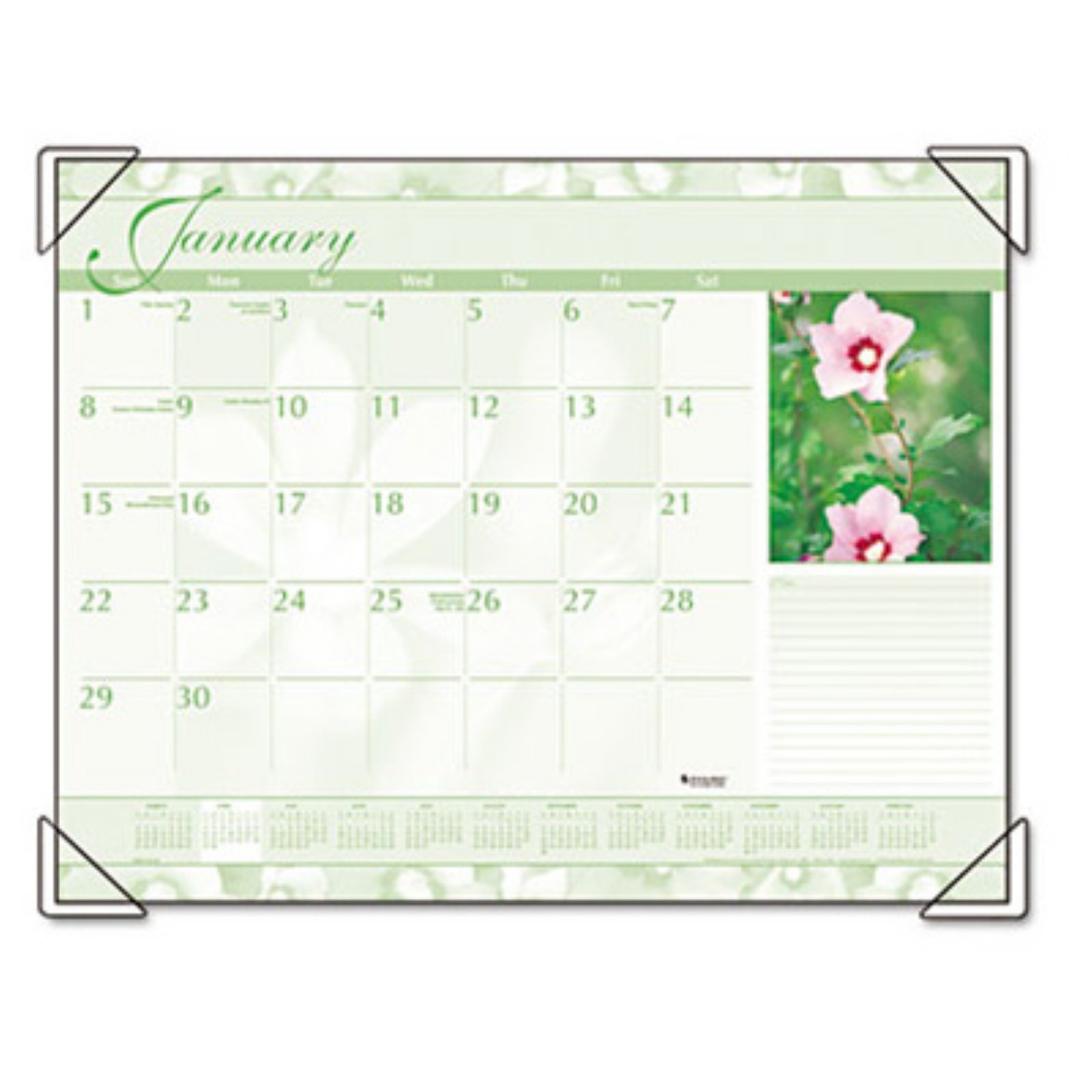 "AT-A-GLANCE Visual Organizer Recycled Antique Floral Desk Pad, 22"" x 17"" DMD13532-10"