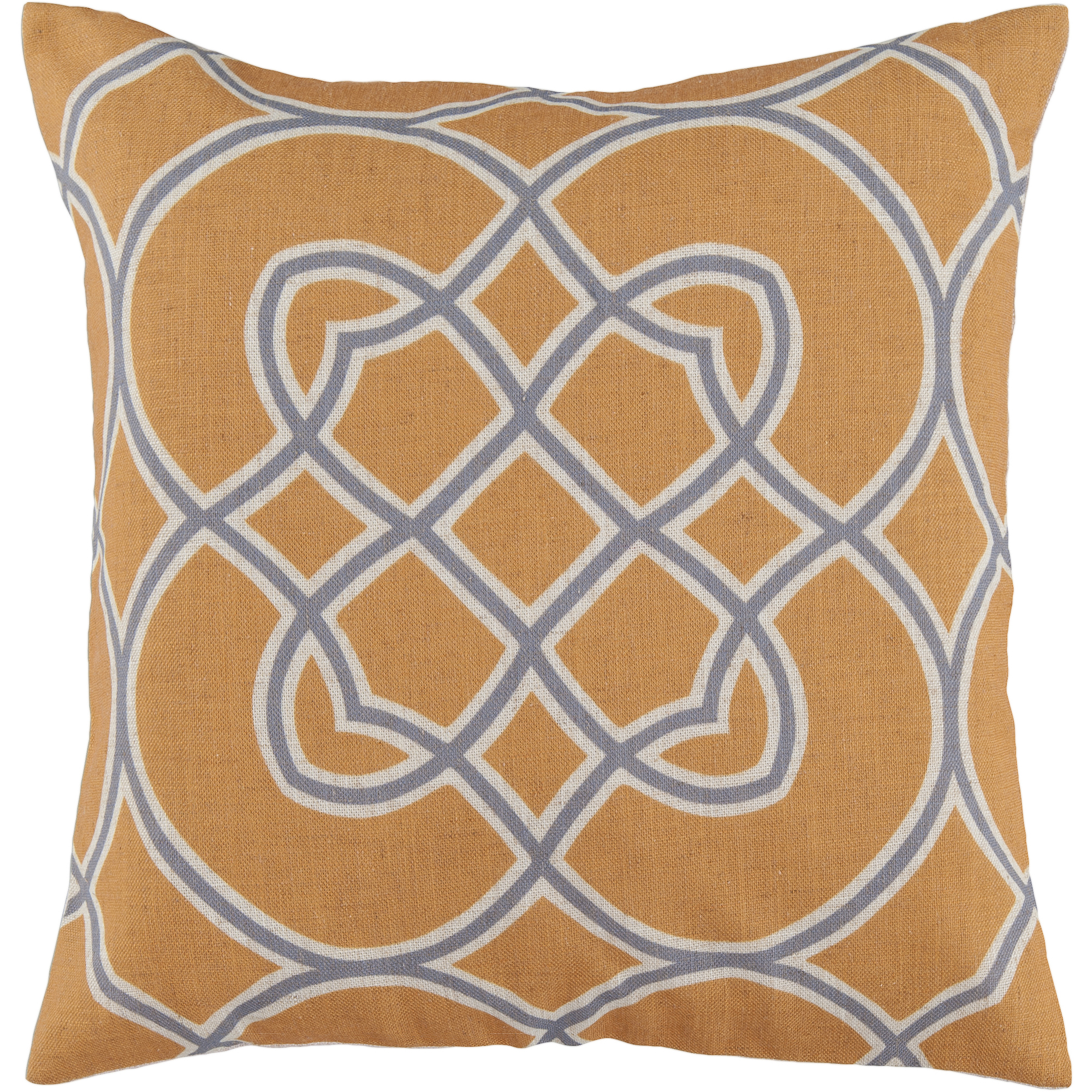 Art of Knot Brayton Hand Crafted Super Scroll Decorative Pillow with Poly Filler, Gold