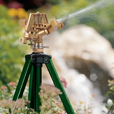 Orbit Impact Adjustable Zinc Tripod Sprinkler