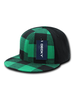 e93f21530c5 Product Image DECKY PLAID FLEXL FITTED TWO TONE CAP CAPS HAT HATS For Men  Women Green PLaid