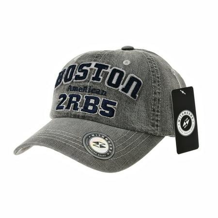 WITHMOONS Denim Baseball Cap Simple Plain Jean Ball Cap For Men Women  Boston Lettering Patch Cotton Hat CR1912 (Grey) - Walmart.com f8cc57c2e1